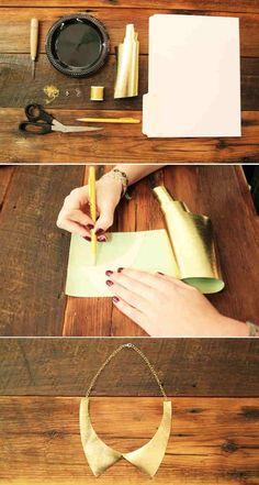 DIY leather collar necklace
