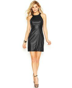 GUESS Python Faux-Leather Dress