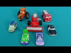 The Cars 3 in English. Car Toys from the Cartoon the Cars. Names of diff...