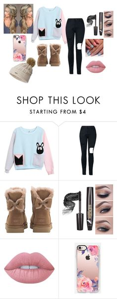 """""""blue and pink"""" by cupcakefriend11 ❤ liked on Polyvore featuring UGG, Lime Crime, Casetify and SOREL"""