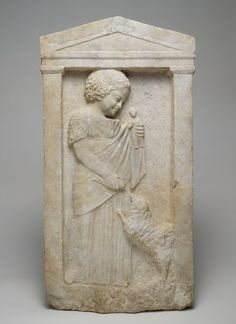 "Attic Grave Stele of a Young Girl, ""Melisto"", c. 340 BC 