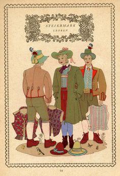 Tirol 54 Austria, Folk Costume, Vintage Costumes, Folklore, Regional, Traditional Outfits, Renaissance, Germany, Culture