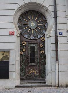 Art nouveau doorway | Art Nouveau Doorway - Prague