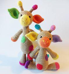 Amigurumi giraffe + crochet + One and two company pattern
