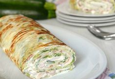 Zucchini and Ham Roll with Thermomix Healthy Breakfast Recipes, Healthy Recipes, Popular Recipes, I Love Food, Food Videos, Food And Drink, Yummy Food, Ham, Favorite Recipes
