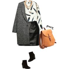 A fashion look from January 2015 featuring Violeta by Mango coats, BLK DNM mini skirts and Report ankle booties. Browse and shop related looks.