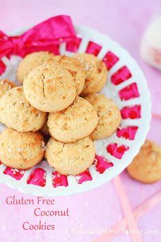 Gluten free muffin top coconut cookies recipe | roxanashomebaking.com