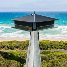 THE POLE HOUSE - Fairhaven, VIC. Welcome to The Pole House. Widely known as the most photographed house on the Great Ocean Road, and probably Australia! Cantilever Architecture, Amazing Architecture, Interior Architecture, Maison Muji, Fairhaven Beach, Design Hotel, House Design, Pole House, Beach Houses