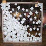 anthropologie installation (UGH my life) backdrop for Design Sponge book tour in WA