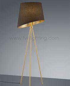 Baulmann Leuchten LED tripod floor lamp <b>Matt brass finish</b> with ...