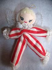 vintage chenille and spun cotton clown and foam giraffe or