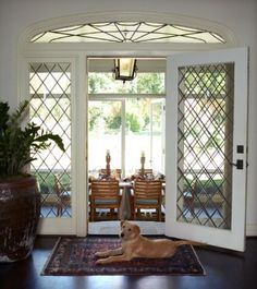 Love the doors to the back patio