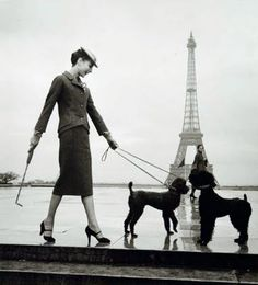 The last place I stood in Paris ...only she did so about 50 years ago! Love the doggies