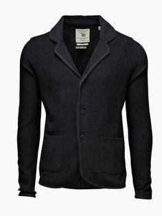 Phillip Knitted Blazer, MIDDLE GREY MELANGE B 65
