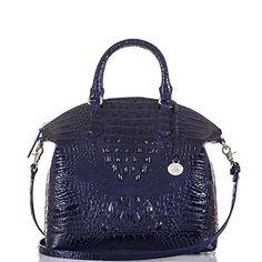 f84706a14321 Large Duxbury Satchel - Ink Melbourne Brahmin Handbags