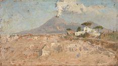 etna lo jacono Italian Painters, Landscape Drawings, Small Canvas, Seascape Paintings, Belle Epoque, Palermo, Scenery, Fine Art, Luigi