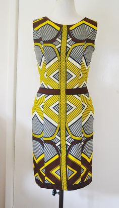 Womens African Wax Tribal Geometric Print Shift by naomianagu