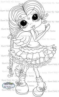 INSTANT DOWNLOAD You Get 2 Besties Digital Digi Stamps Big Eye Big Head Dolls Digi I Say A Little Prayer For You By Sherri Baldy