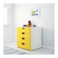 STUVA Storage combination with drawers - white/yellow - IKEA