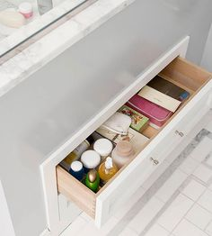 Few rooms house as many small, assorted items as the bathroom. Keep them all in check and streamline your morning routine with these bathroom storage ideas for creating functional and stylish stowaways.