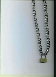 Make your own chain/padlock punk rock necklace.