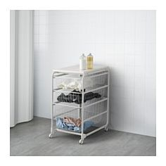 IKEA - ALGOT, Frame/wire baskets/top shelf/caster, The parts in the ALGOT series can be combined in many different ways and easily adapted to your needs and space.When you complete your ALGOT frame with baskets from the same series you have a smart storage solution that fits anywhere in your home.Can also be used in bathrooms and other damp indoor areas.The basket glides smoothly and has a pull-out stop to keep it in place.