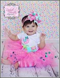 Custom Listing for Delilah831  1st Birthday by paisleyandposies, $100.00 Our Kids, My Children, 1st Birthday Pictures, Birthday Ideas, Happy Birthday Parties, Pink Tutu, 1st Birthdays, Cute Photos, Hair Bows