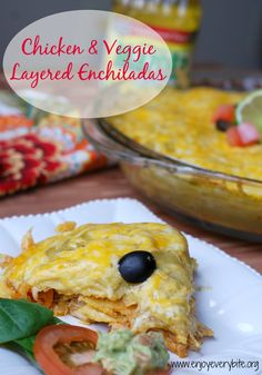 Easy to make and always a crowd pleaser, these enchiladas are packed with veggies, protein, and tons of flavor!