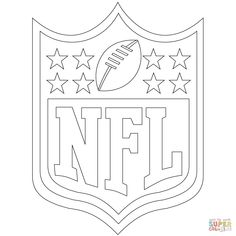 nfl logo coloring page - Super Bowl Trophy Coloring Pages