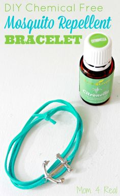 DIY chemical free mosquito repellent bracelet. Fights mosquitos and other bugs without the use of harmful chemicals. Great for kids and adults too! via @Mom4Real
