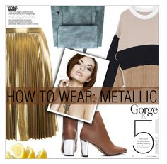 """How To Wear: Metallic"" by eclectic-chic ❤ liked on Polyvore featuring A.L.C., metallic, StyleTips and yoins"