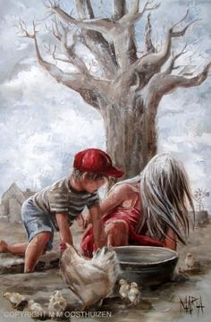 Original Fine Art Painting by Maria Magdalena Oosthuizen. Medium: Acrylic on Canvas. Stretched, and Blocked, Not Framed. Painting People, Painting For Kids, Painting & Drawing, Stella Art, South African Artists, Illustrations, Beautiful Paintings, Gouache, Art Pictures