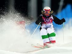 DAY 2:  Deborah Scanzio of Italy competes in the Ladies' Moguls Final