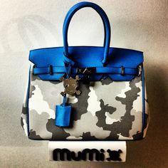 "Camouflage grey & light blue ""Nessy"""