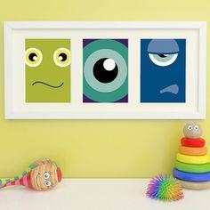 Monster Prints, Monster Art, Childrens Wall Art, Childrens Room Decor, Kids Art - 3 of 5x7in - Bold & Colourful on Etsy, $23.00 CAD