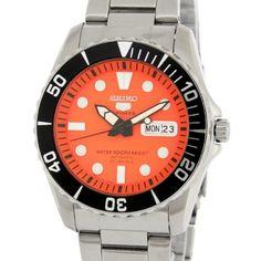 Amazon|[セイコー]SEIKO 腕時計 SEIKO5 SPORTS セイコー5 スポーツ SNZF19J1 逆輸入 オレンジ メンズ[並行輸入品]|国内ブランド 通販