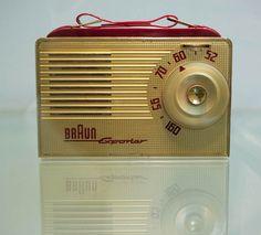 Braun, Portable Radio Exporter 1, unknown designer, 1954. Exhibition Frankfurt, 2010. Via flickrstreamRené Spitz.