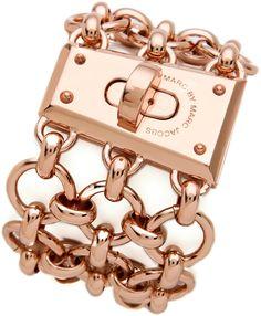 Mega Mesh Faceted Lock Bracelet - Lyst