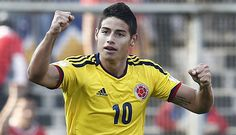 Star of the FIFA World Cup so far, Colombia's James Rodriguez James Rodriguez, Fifa World Cup, Soccer Players, Real Madrid, Football, Men's Hairstyle, Star, Sports, Futbol