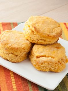 Two of my favorite things, rolled into one! Sweet Potato Biscuits -Momo