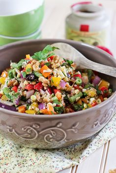 Full Spectrum Veggie Salad - another good one, for plant strong skip the parmesan and use a few less walnuts
