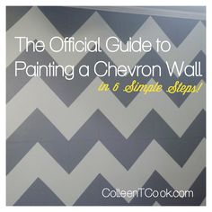 How to Paint a Chevron Wall- Must Save!