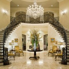 My dream home has a double staircase to the foyer.