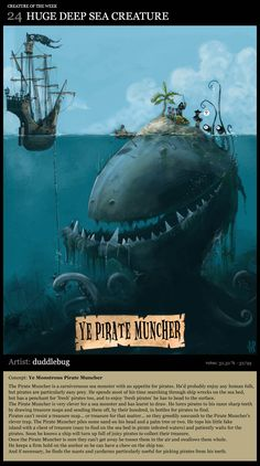 Ye Pirate Muncher; Artist of the mythical creature picture feature: duddlebug