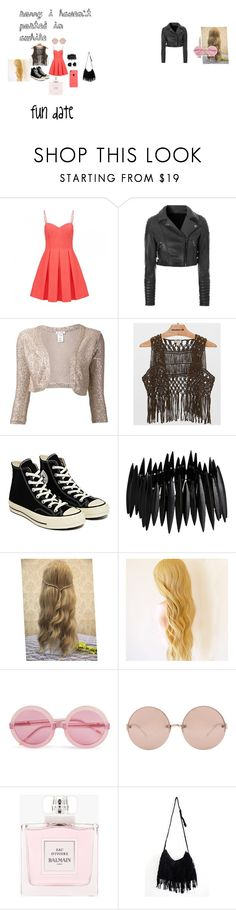 """""""Fun Date"""" by sydnik13 ❤ liked on Polyvore featuring Forever New, Oscar de la Renta, Echo & Rage, Converse, Pieces, Marc by Marc Jacobs, Wildfox, Linda Farrow and Balmain"""