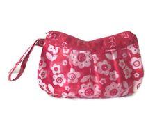 Buttercup Zipper Clutch Bag Purse Cosmetic by SarahsFabCreations, $20.00