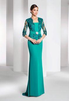 Vestido de fiesta o madrina Modelo 2759 Elegant Dresses, Vintage Dresses, Beautiful Dresses, Ankara Long Gown Styles, Dinner Gowns, Dress Brokat, Maid Of Honour Dresses, Party Dresses For Women, Dress Patterns