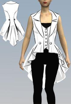Steampunk Vest Pattern                                                                                                                                                                                 More