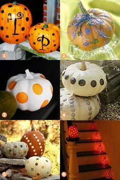 Polka dot pumpkin ideas