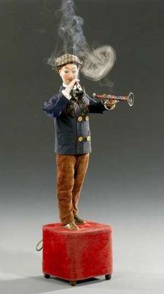 This fascinating Smoking Musician Automaton by French Lambert, circa 1915 sold for $15,130.
